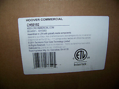 """Hoover Commercial Upright Vacuum Cleaner Bagged 15"""" CH50102 New"""
