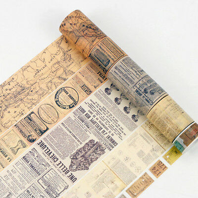 8 Meters Vintage Washi Paper Masking Adhesive Tapes Decorative Tape Top