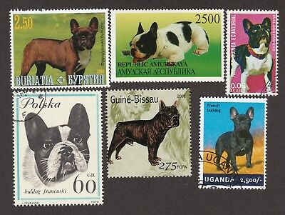 FRENCH BULLDOG ** Int'l Dog Stamp Collection**Great Gift Idea**