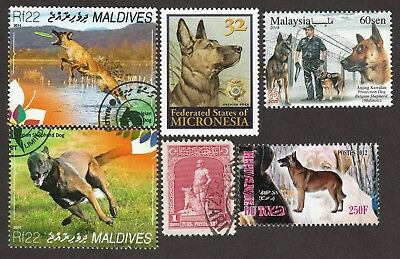 BELGIAN MALINOIS ** Int'l Dog Stamp Collection**Great Gift Idea**