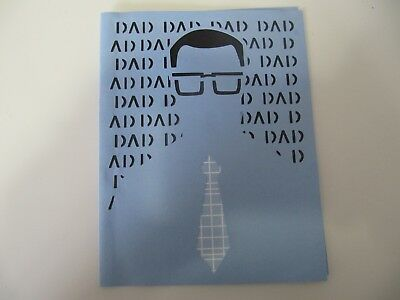 Dad Dad Dad Happy Fathers Day Homemade Greeting Card 200