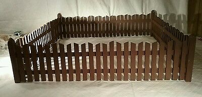 Reproduction antique brown christmas or putz fence