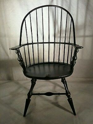 Doll size black windsor chair made by river bend chair co