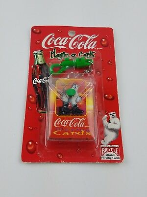1999 Coca Cola Bicycle Playing Cards Keychain - Sealed