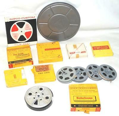8 16mm Vintage 50's-60's Home Movie Films Mt. Rushmor, Vacations, Parties & More