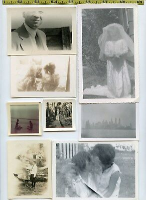 (191) Vintage photo lot / WEIRD Images - Mysterious Scary OLD SNAPSHOTS 1910-75