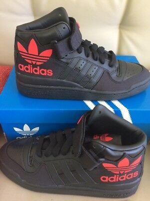 new styles 47403 21785 Men 8.5 Adidas Originals Forum Mid RS XL S75967 Black Ray Red Strap Shoe  Sneaker