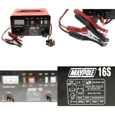 Maypole Heavy Duty Steel 12 Amp 12v//24v Car Van Tractor Battery Charger MP716