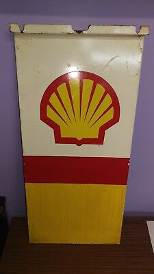 Shell front/back of petrol bowser metal  710mm by 365mm (at widest point)