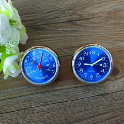2 PCS Car Thermometer Meter Luminous Quartz Clock For Dashboard Outlet Ornaments