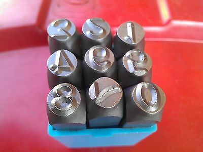 Number 0-9 Marking Punch Stamp Set, size: 8mm. New