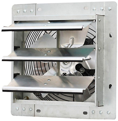 Shutter Mounted Exhaust Fan 10 In. Vent Automatic Variable Speed Air Heavy Duty