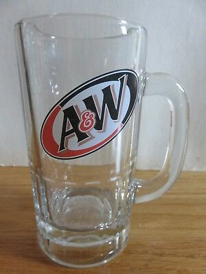 "Vintage Diagonal Logo A & W ROOT BEER 5.5"" Glass Mug"