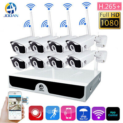 JOOAN 4/8CH 1080P Wireless WiFi IP Camera HDMI NVR Home Security CCTV System 1TB