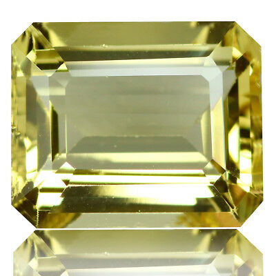 4.04 Ct Excellent!! Luster Top Rich Fire Natural Yellow Beryl