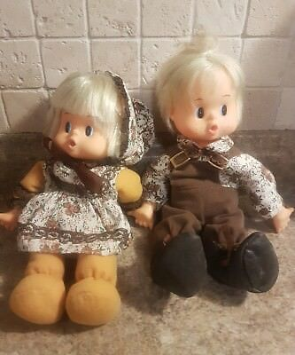 1976 playmates Little Thumbsie Dolls made in Hong Kong Boy and Girl Set