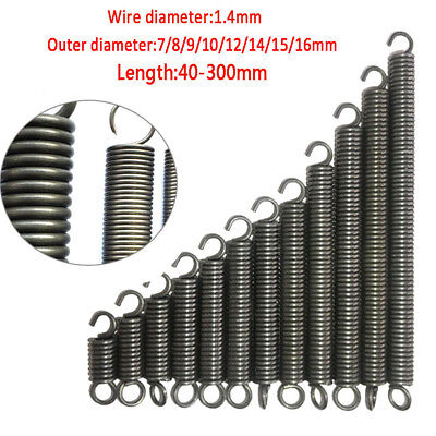 Expansion Springs Extension Tension Spring Diameter 1.4mm OD 7mm-16mm Wire 1Pcs
