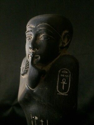 ANCIENT EGYPT ANTIQUE EGYPTIAN Pharaoh Ushabti STATUE Goods Basalt Stone BC