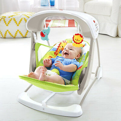 Fisher-Price Rainforest Friends Take-Along Baby Chair Toys Sounds Rocker Bouncer