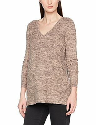 Rosa 40 Mamalicious Mlkelly Lounge L/s Knit Top V Bf, Maglione premaman