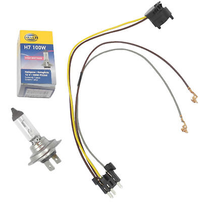 LEFT /RIGHT HEADLIGHT Wiring Harness & H7 100W Headlight Bulb For E500 on