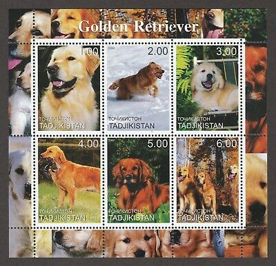 ON SALE!!  GOLDEN RETRIEVER **Int'l Dog Stamp Sheet** Great Gift Idea