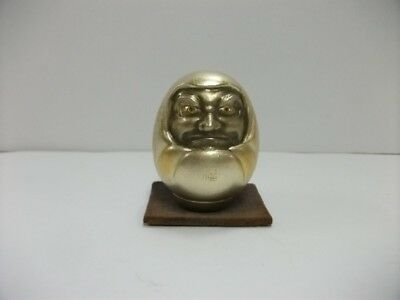 Dharma doll of the Pure silve made in very rare Japan. DARUMA. Japanese Antique