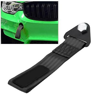 High Strength Racing Tow Towing Strap Hook Rope Front Rear Bumper For Car Black