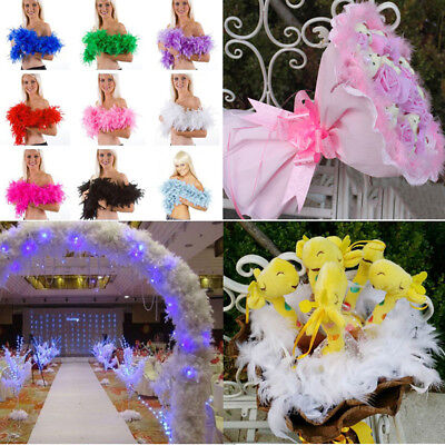 200cm Feather Fluffy Boas Hen Night Party Wedding Burlesque Halloween Costumes