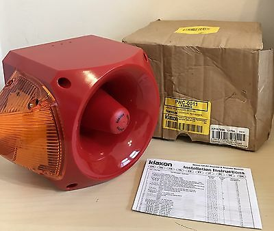 Nexus 120 Sounder Beac 110/220V AC RED-AMBER PCN-0011 Klaxon Sounder RS539-4681