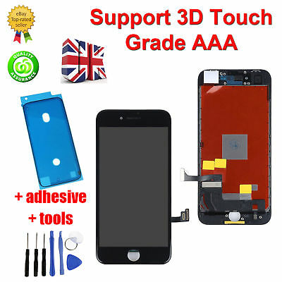 For Apple iPhone 8 LCD Digitizer Screen Replacement - Black - Genuine 3D Touch
