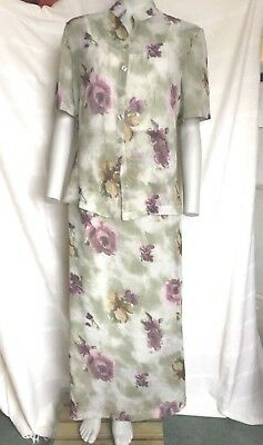 VINTAGE CANADIAN TOP and MAXI SKIRT SUIT DRESS size 16 TALL FULL LENGTH