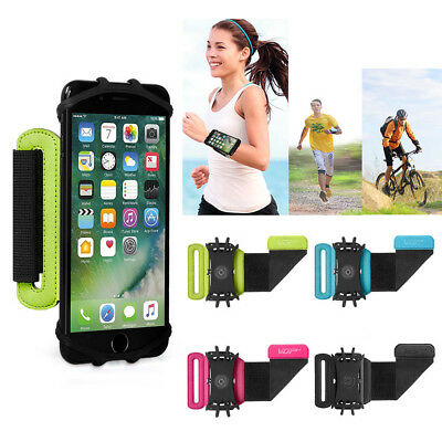 VUP 180° Rotation Sport Workout Forearm Case Armband For iPhone X 8 7 6S 6 5 New