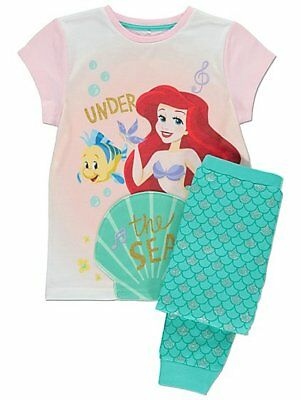 Disney The Little Mermaid  Pyjamas Girls Princess Ariel Pyjama Set Kids PJs