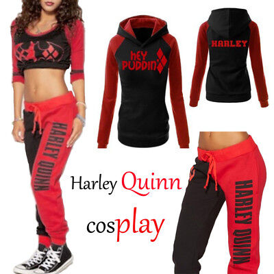Women Harley Quinn Joggers Trousers Lounge Wear Tracksuit Bottoms Top Pants lot