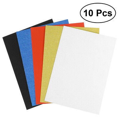 10pcs 6 Colours A4 Sheets Glitter Cardstock Craft Scrapbook for Card DIY Making