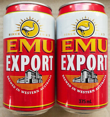 Two Emu Export Beer Cans from Western Australia (Lot A)