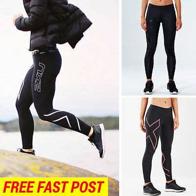 2XU LONG Compression Tights Sport Pants Womens Fitness Running Gym Yoga Trousers