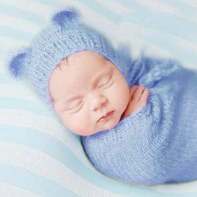 6 Colors Baby Newborn Lovely Bear Ear Cap Hat Photo Photography Prop Outfit