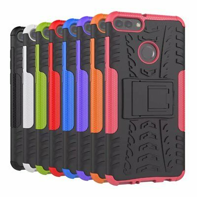 Shockproof Rugged Rubber Hybrid Case Stand Cover For Huawei Y9 2018/Enjoy 8 Plus
