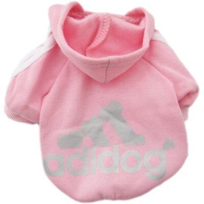 Pink Fashion Cozy Soft Sweatshirt Sweater Clothing Hoodie For Pet Dog Cat Puppy