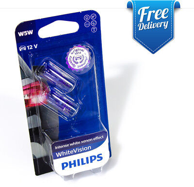 NEW Philips W5W T10 WhiteVision 12961NBVB2 Halogen Signal and Interior bulbs 12V