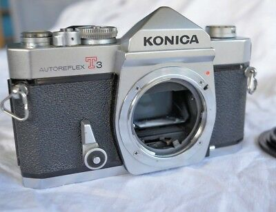 KONICA T3 camera body - very nice condition - needs CLA(Clean, Lube, Adjustment)