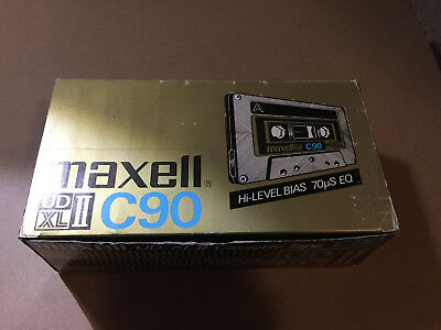 Box Of 12 New Sealed Maxell UDXLII 90 CassettesTapes Type II Made In Japan