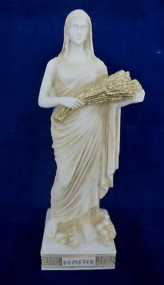 Demeter sculpture aged statue ancient Greek Goddess of the agriculture