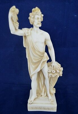 Dionysus sculpture ancient Greek God of wine and extacy aged artifact