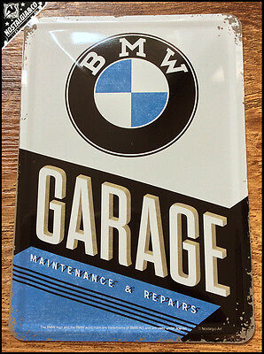BMW -  Garage Maintenance Repairs Metal Postcard Mini Tin Sign Novelty Card gift