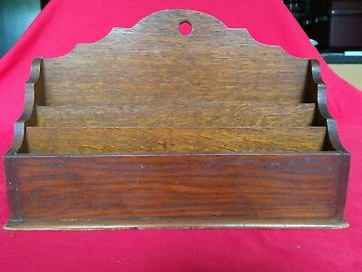 Vintage or Antique Oak ? Letter Rack with three  sections