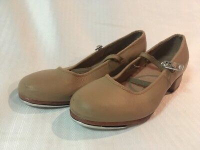 Bloch Tan Leather Tap Shoes Size 4