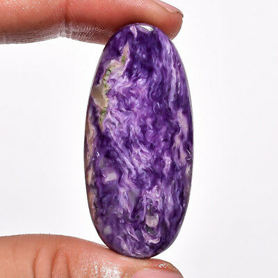 40.45 Ct. Natural Charoite Oval Cabochon Loose Gemstone 47X22X5 Mm